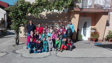 Tretješolci na kmetiji Škrjanc »Pri Jurijevih«