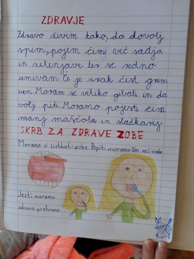 Zobna preventiva v 3. razredu PŠ Žalna