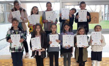 Mladi raziskovalci DE Adamičeve, čestitamo!