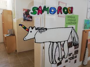 Prvošolci obiskali Samoroge