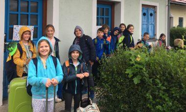 Učenci 3. razredov DE Adamičeva srečno prispeli v Čatež