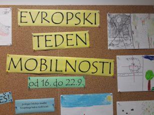 Evropski teden mobilnosti na PŠ Kopanj