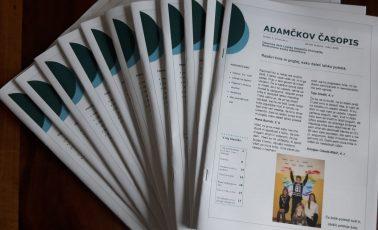 Izšla je prva številka Adamčkovega časopisa
