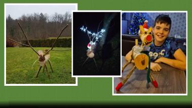 Božični jelenčki Rudolfki s Tovarniške