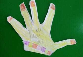 To je moja roka in tako pišem jaz