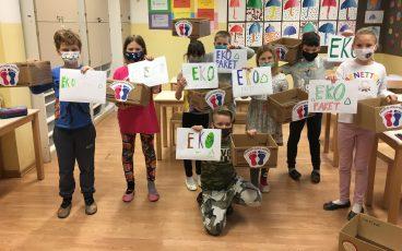 Skrivnostna EKO EKIPA na DE Adamičeva pomaga društvu Vesele nogice