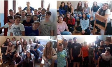Učenci 8. c in 8. d v Tolminu